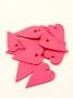 0813G 100 stk Trehjerter Rosa